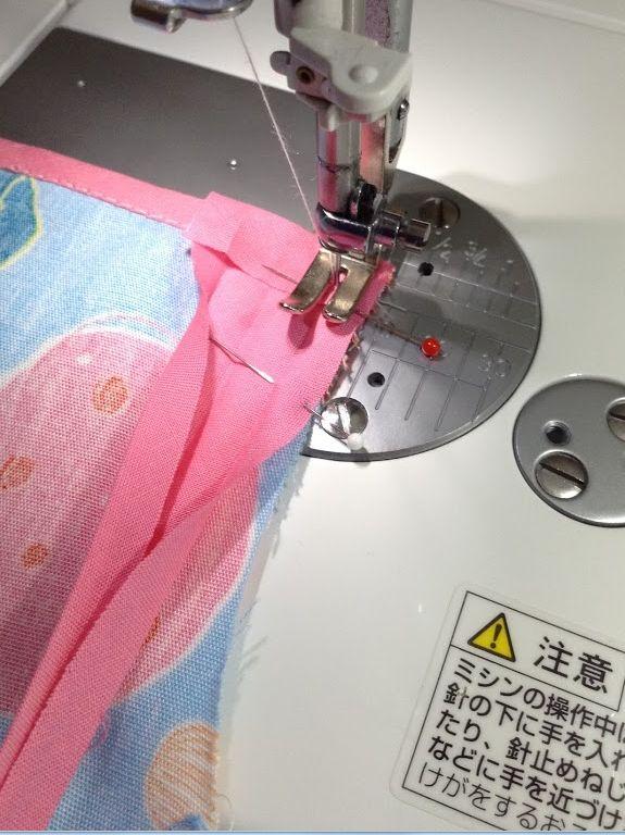 職業用ミシン・エクシムプロで~子どもエプロン作り~縫製~